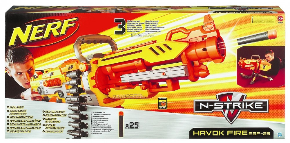 nerf vulcan havok fire ebf 25 n strike 25264 volcan hasbro mitrailleuse arme ebay. Black Bedroom Furniture Sets. Home Design Ideas