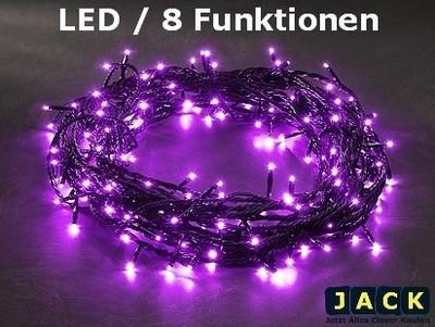 Neu led lichterkette lila mit 8 funktionen 120 leds 13 3m au en 3631 450 ebay - Lichterkette lila ...