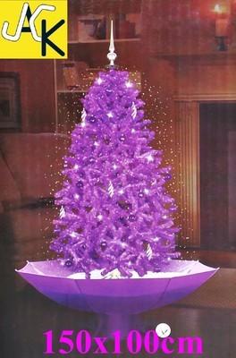 neu ovp weihnachtsbaum lila selbst schneiend led. Black Bedroom Furniture Sets. Home Design Ideas