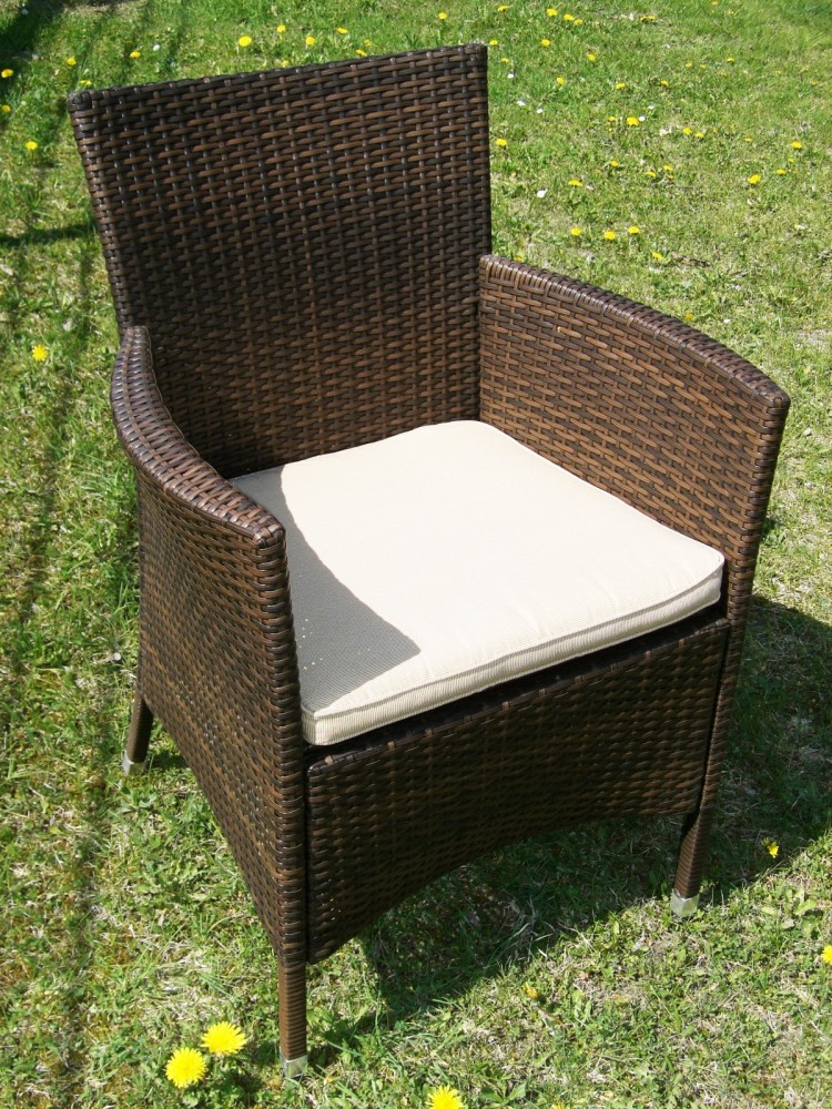 stuhl alu rattan sessel astana braun wetterfest inkl auflage gartenstuhl 6 5 kg ebay. Black Bedroom Furniture Sets. Home Design Ideas