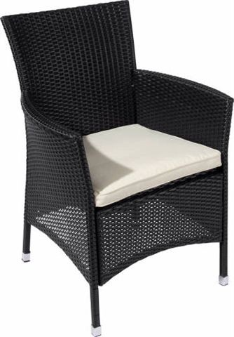 chaise alu rotin chaise astana noir r sistant aux intemp ries incl dition chaise de jardin ebay. Black Bedroom Furniture Sets. Home Design Ideas
