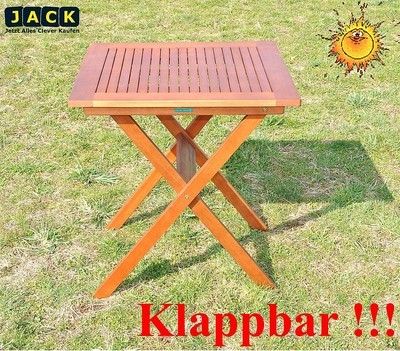 neu ovp gartentisch 70x70 cm klapptisch top holz tisch wetterfest ebay. Black Bedroom Furniture Sets. Home Design Ideas