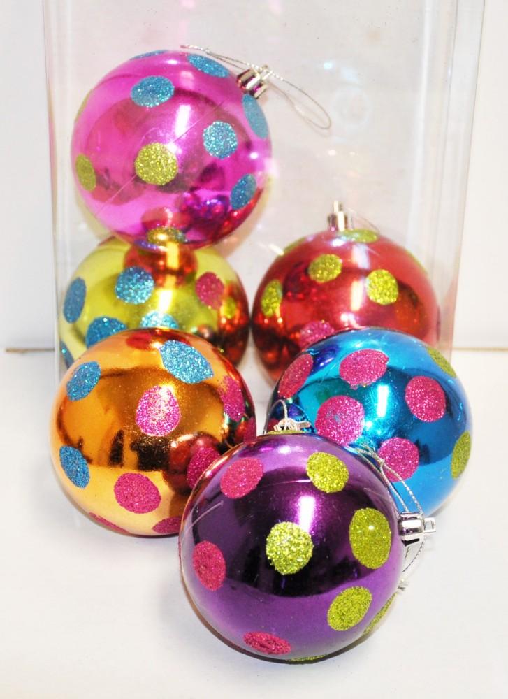 12x christbaumkugeln bunt rot blau gr n lila weihnachtskugeln kunststoff 8cm ebay - Christbaumkugeln lila ...
