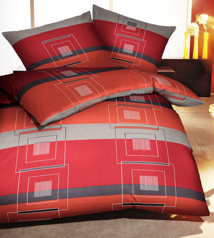 kaeppel biber bettw sche quartetto chili 155x220cm 2 tlg rei verschluss ko tex ebay. Black Bedroom Furniture Sets. Home Design Ideas