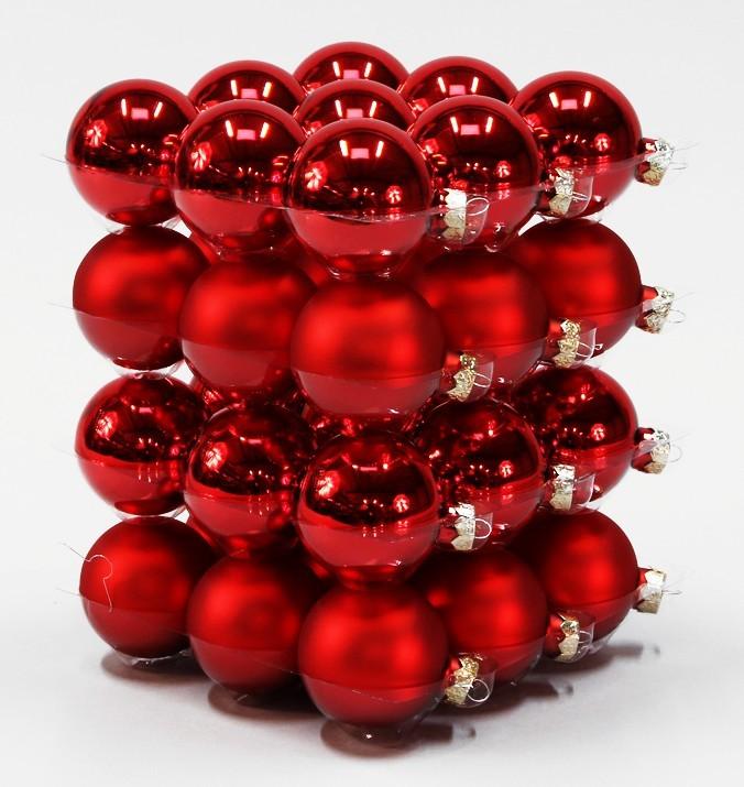 Ikea Weihnachten Christbaumkugel Dekokugel Aus Glas Gold: Weihnachtskugeln Rot Glas. Matter Dunkelrote