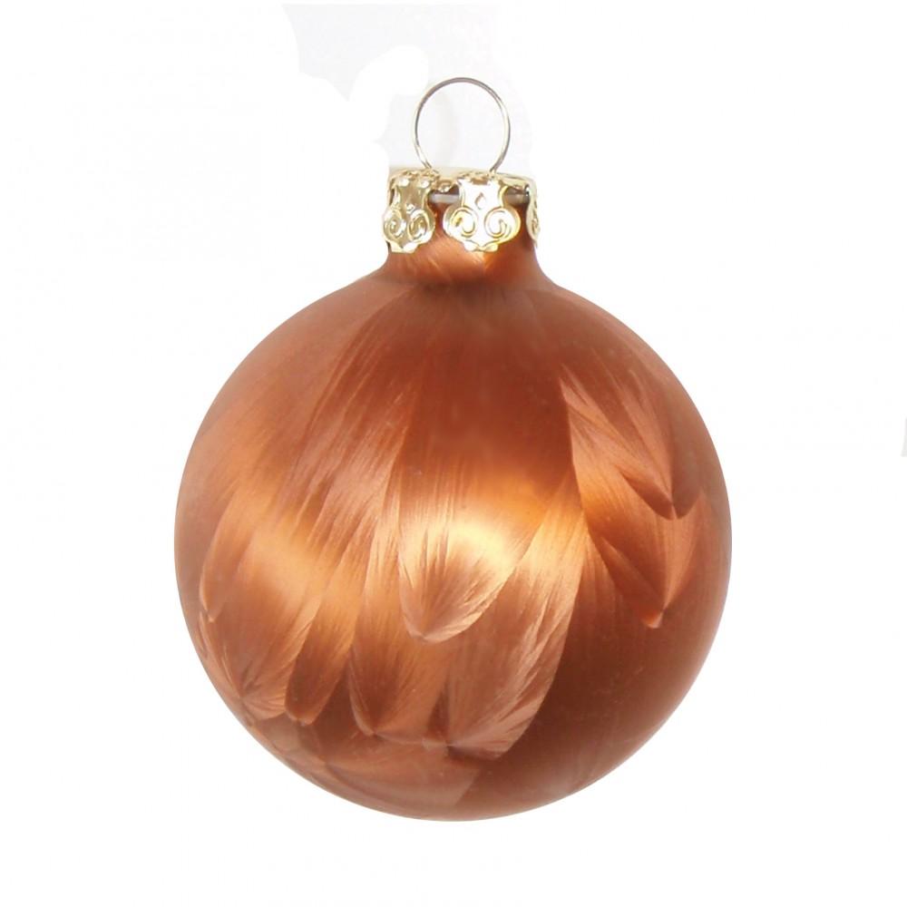60x glas christbaumkugeln braun wei 4 5 6 7 cm teilw eislack weihnachtskugeln ebay. Black Bedroom Furniture Sets. Home Design Ideas