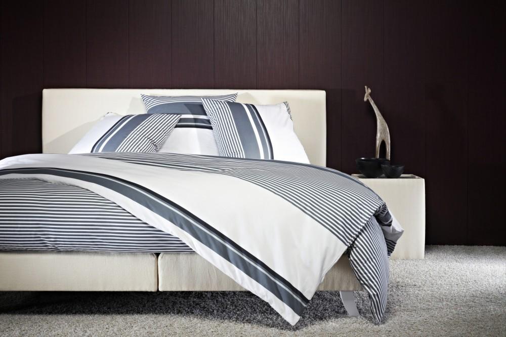 mistral mako satin bettw sche 220fd sivan 155x220cm schwarz wei grau baumwolle ebay. Black Bedroom Furniture Sets. Home Design Ideas