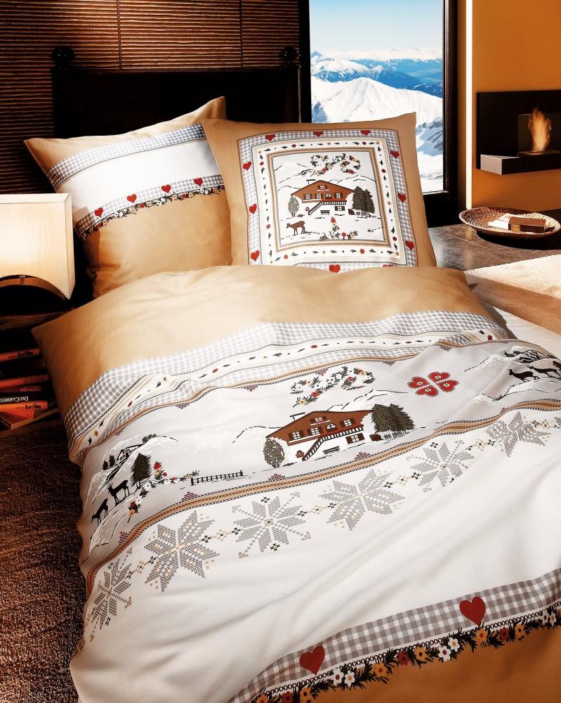 kaeppel linon bettw sche 135x200cm h ttenzauber silber creme 2 tlg bettw sche bettw sche 135x200cm. Black Bedroom Furniture Sets. Home Design Ideas