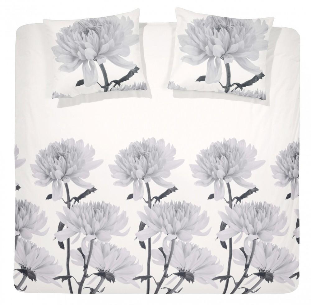 mako satin bettw sche grau wei 135x200 kissenbezug 80x80 pictures to pin on pinterest. Black Bedroom Furniture Sets. Home Design Ideas