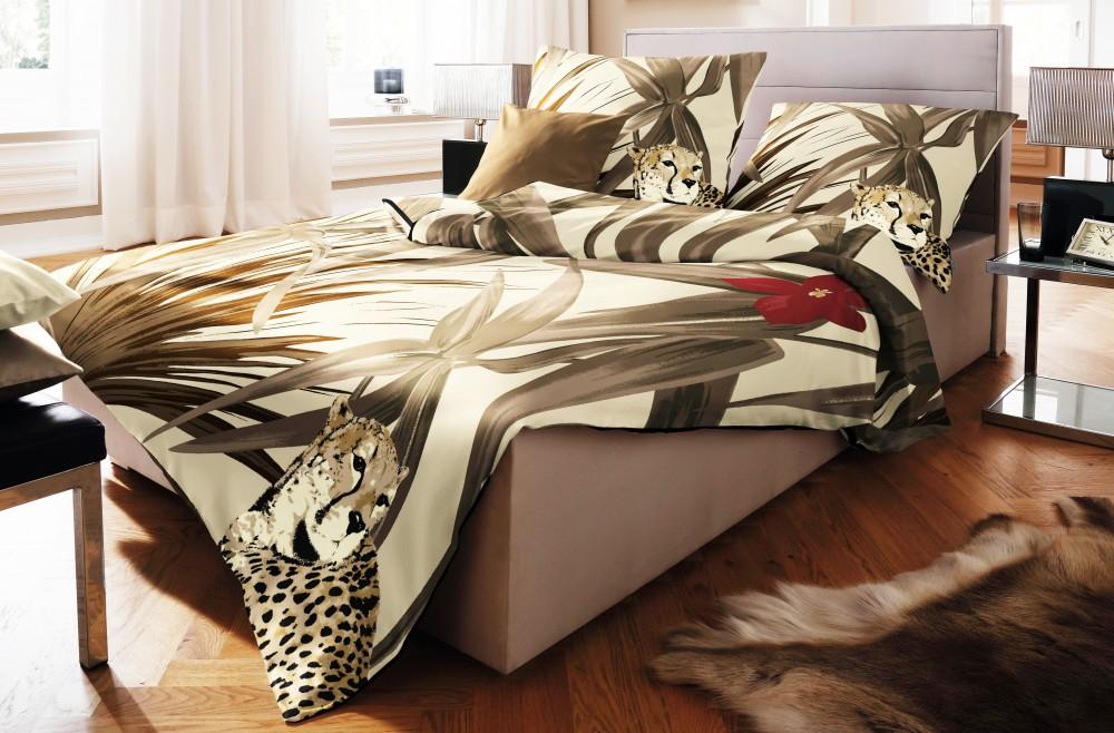 fleuresse fein biber bettw sche 135x200cm 2 tlg jaguar braun wei sand rv ko ebay. Black Bedroom Furniture Sets. Home Design Ideas