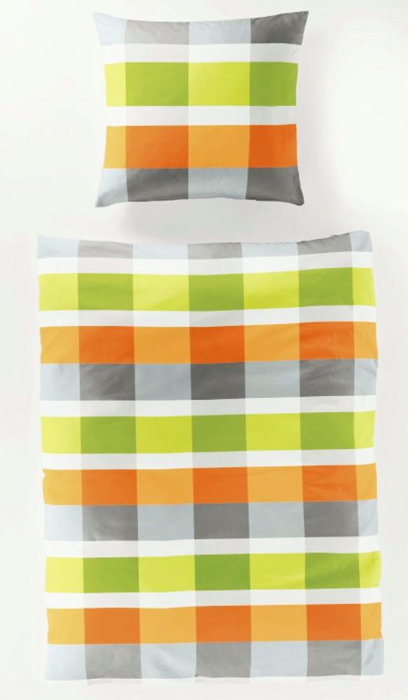 bierbaum seersucker bettw sche karos orange gr n grau baumwolle ko tex rv. Black Bedroom Furniture Sets. Home Design Ideas