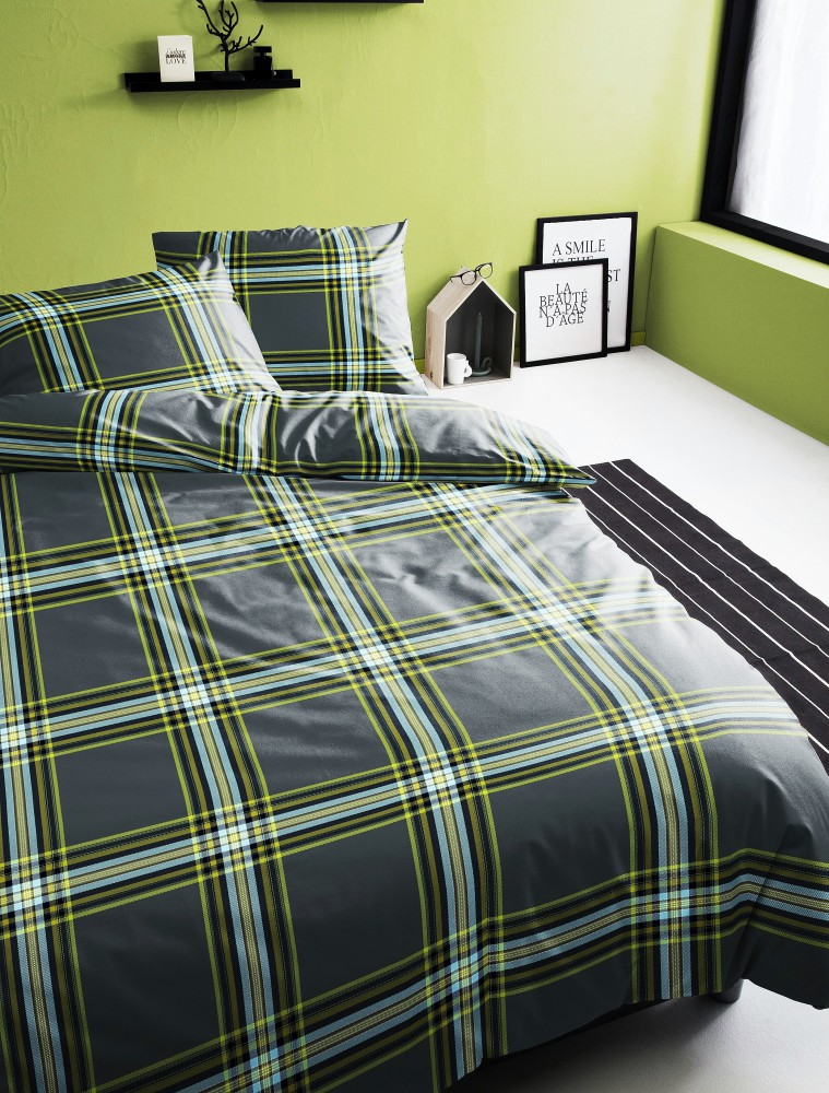 damai perkal baumwolle bettw sche 135x200cm 2 tlg centre anthrazit rv ko ebay. Black Bedroom Furniture Sets. Home Design Ideas
