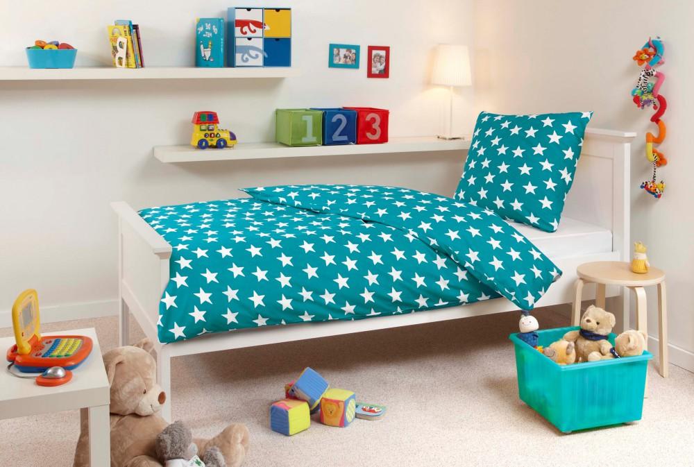 mistral home flanell bettw sche sterne stern t rkis oder. Black Bedroom Furniture Sets. Home Design Ideas