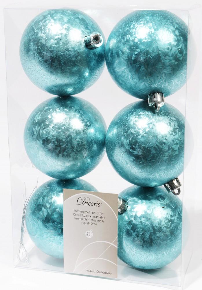 12x kunststoff christbaumkugeln 8 cm schwarz wei t rkis silber eislack ebay. Black Bedroom Furniture Sets. Home Design Ideas