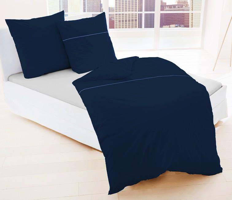 dormisette 2 tlg uni perkal bettw sche 135x200cm grau braun blau rv ko tex. Black Bedroom Furniture Sets. Home Design Ideas