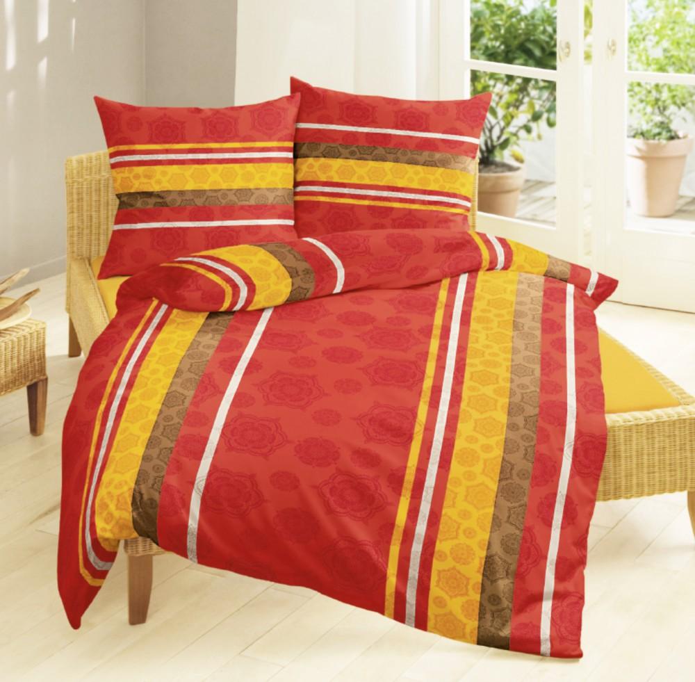 bierbaum microfaser velours fleece bettw sche 135x200cm 2 tlg rot orange bettw sche bettw sche. Black Bedroom Furniture Sets. Home Design Ideas