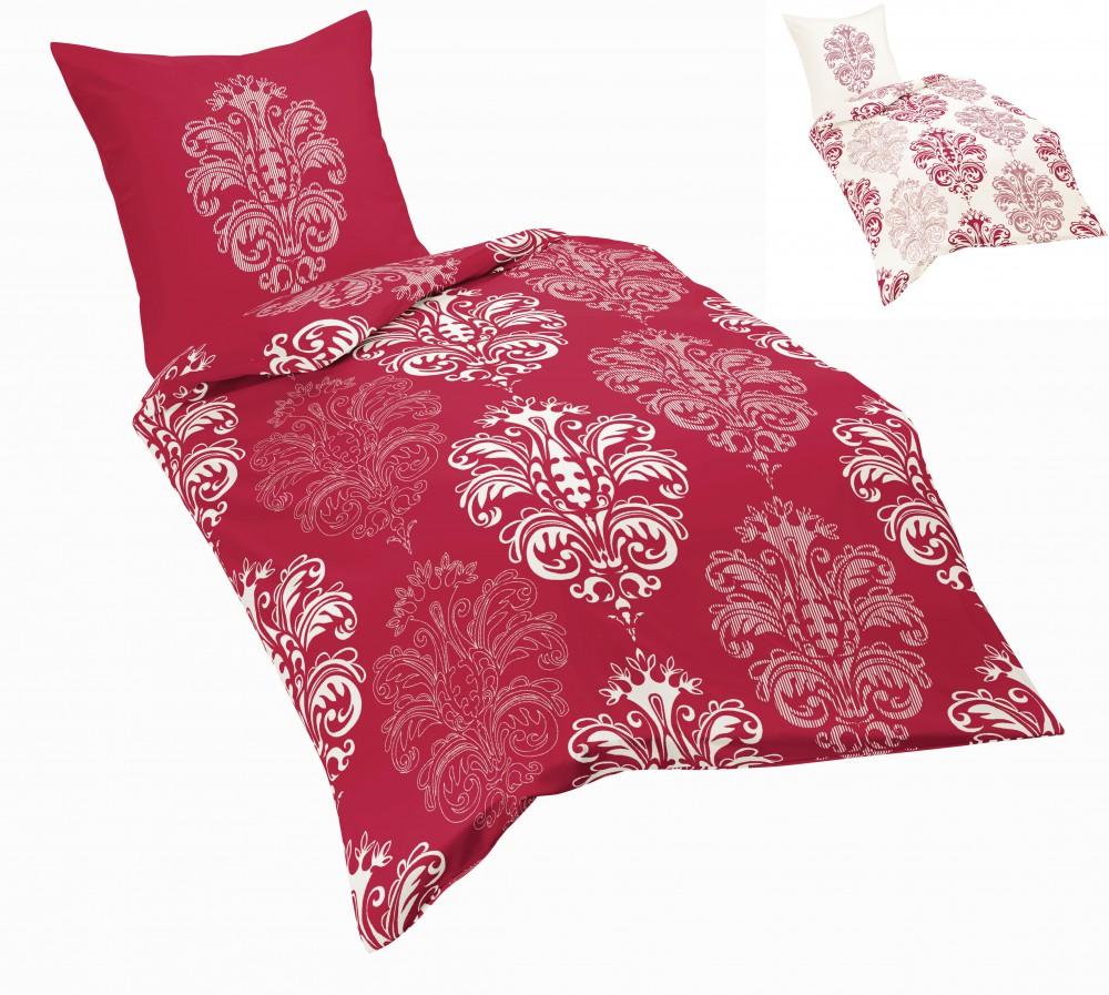 fleuresse microfaser fleece bettw sche ornamente rot wei wei rot bettw sche bettw sche 135x200cm. Black Bedroom Furniture Sets. Home Design Ideas