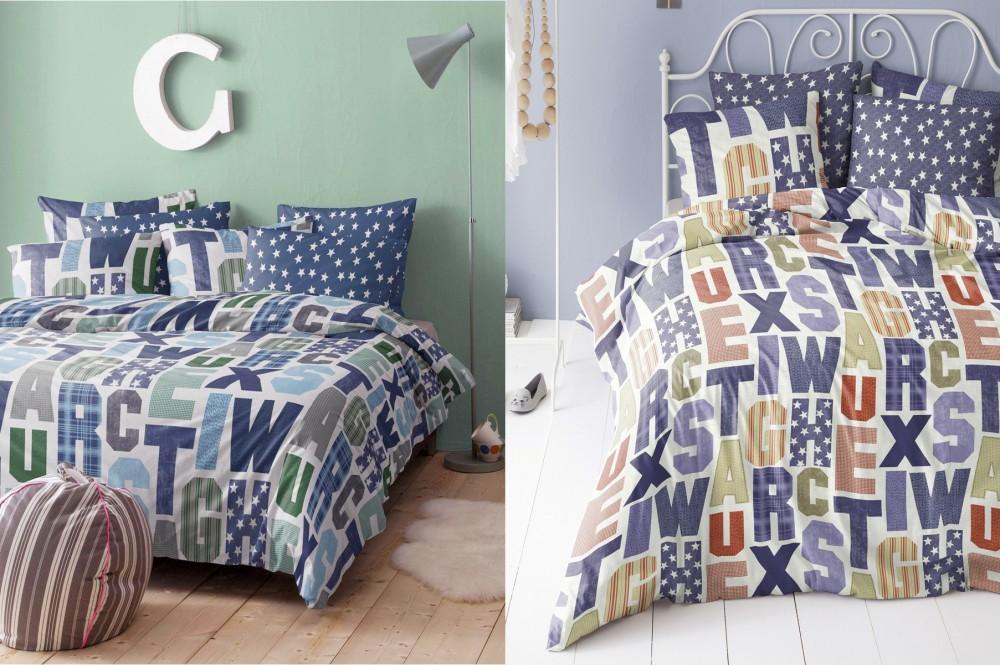 damai perkal baumwolle bettw sche 135x200cm 2tlg campus sterne grau navy blau bettw sche. Black Bedroom Furniture Sets. Home Design Ideas