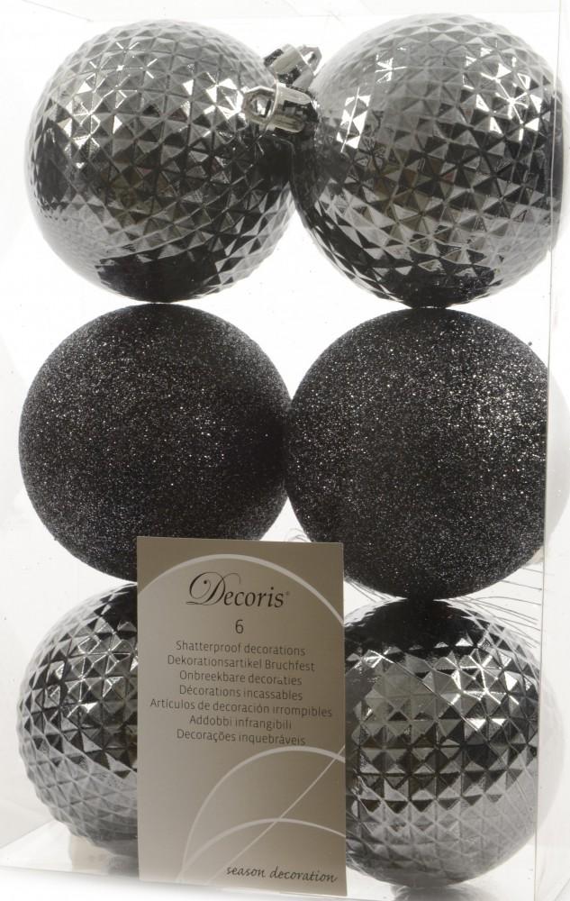 12x christbaumkugeln 7cm kunststoff wei gold blau grau kupfer glitzer rauten weihnachten. Black Bedroom Furniture Sets. Home Design Ideas