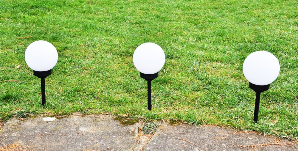 3x led solar kugel 15cm gartenlampe gartenleuchte leuchtkugel erdspie marken fhs international. Black Bedroom Furniture Sets. Home Design Ideas