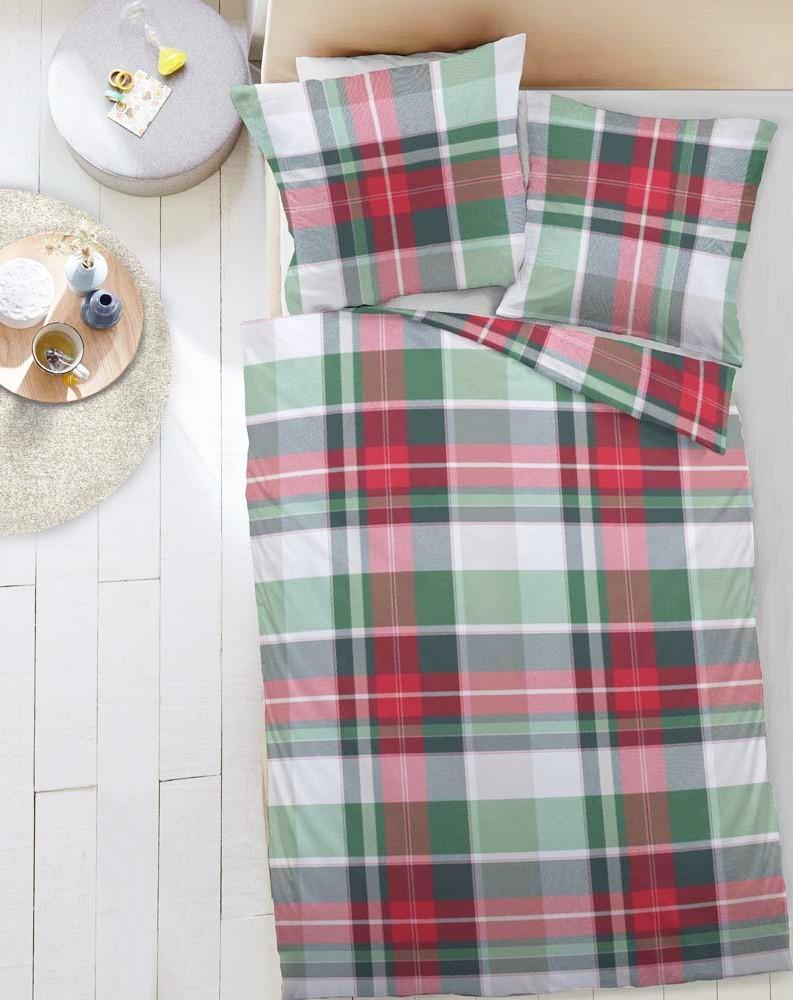 dormisette fein biber bettw sche karos grau petrol wei rot gr n wei ebay. Black Bedroom Furniture Sets. Home Design Ideas