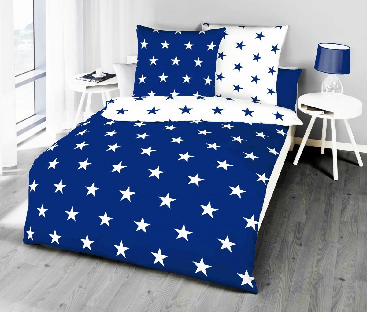 Biber Bettwäsche Sterne : kaeppel biber stern wende bettw sche sterne stars blau ~ Watch28wear.com Haus und Dekorationen