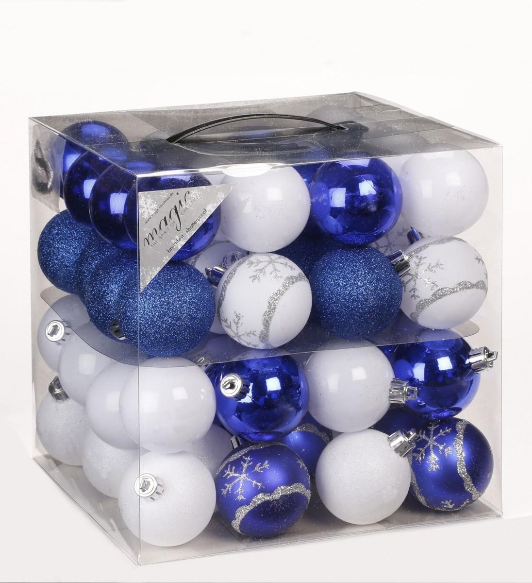 64x kunststoff christbaumkugeln 6cm kugel box glanz glitzer matt dekor inge glas. Black Bedroom Furniture Sets. Home Design Ideas