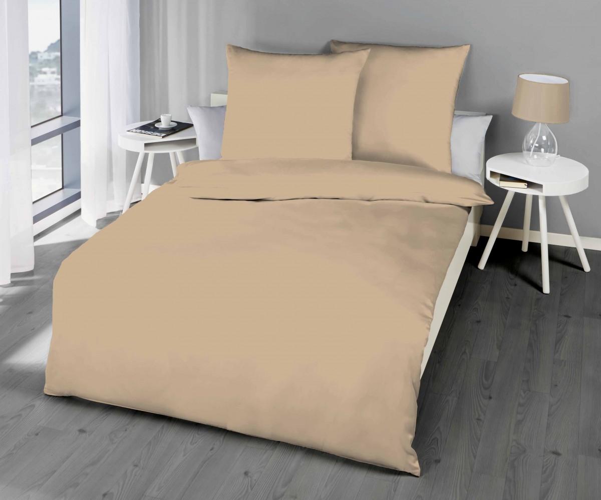 kaeppel biber bettw sche uni gelb sand lind hellblau terra. Black Bedroom Furniture Sets. Home Design Ideas