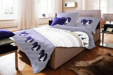 fleuresse biber bettw sche 135x200cm 2 tlg herzen blau bettw sche bettw sche 135x200cm. Black Bedroom Furniture Sets. Home Design Ideas