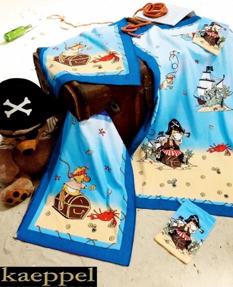 1b kaeppel kinder 5 tlg handtuchset strand piraten frottier badetuch handtuch haus garten. Black Bedroom Furniture Sets. Home Design Ideas