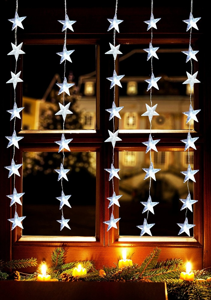 Dänisches Bettenlager Moosburg : 40 led sternenvorhang lichterkette 1 2 x 1m sterne ~ Watch28wear.com Haus und Dekorationen