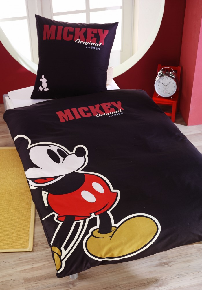 renforce bettw sche 135x200cm retro mickey mouse maus. Black Bedroom Furniture Sets. Home Design Ideas