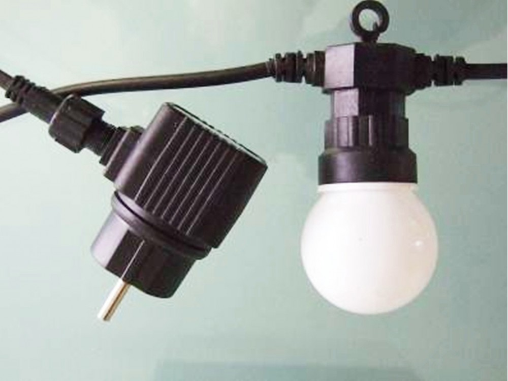 Led 5m partylichterkette 10 lampen mit 50 leds bunte lichterkette marken fhs international gmbh - Garten lichterkette ...