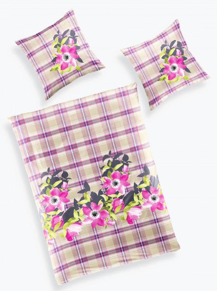 bierbaum renforce bettw sche 135x200cm 2 tlg beere blumen pink rosa bettw sche bettw sche 135x200cm. Black Bedroom Furniture Sets. Home Design Ideas