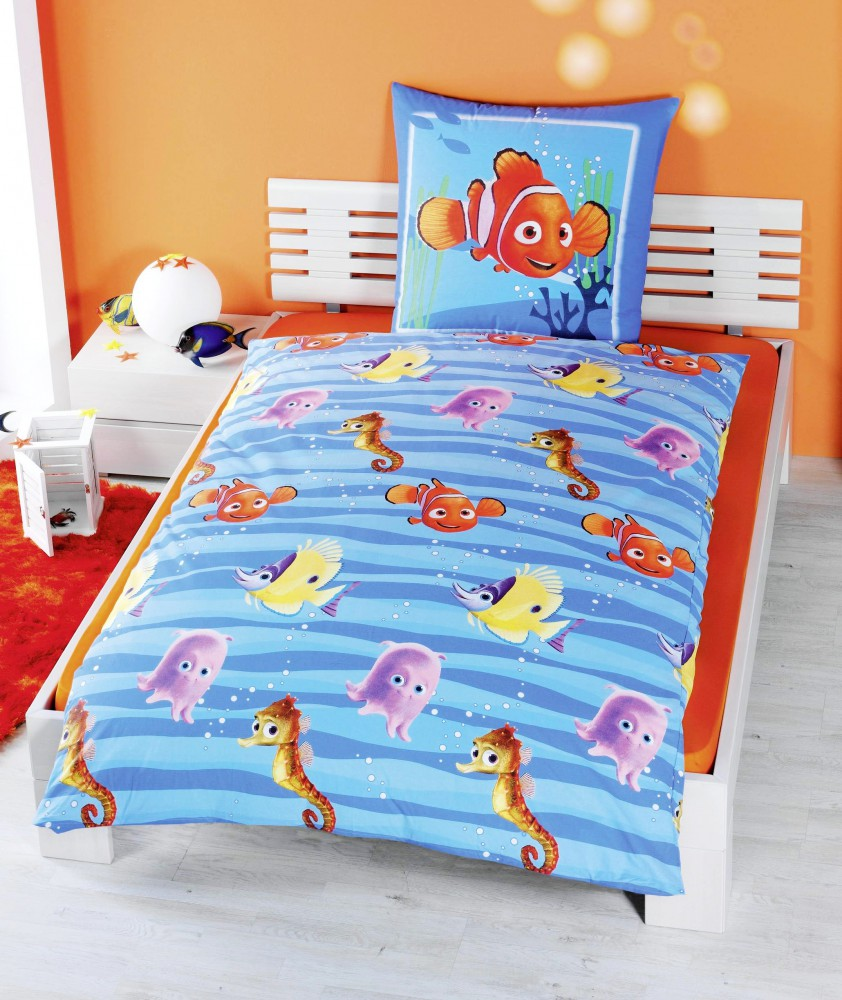 disney renforce linon bettw sche findet nemo 135x200cm. Black Bedroom Furniture Sets. Home Design Ideas