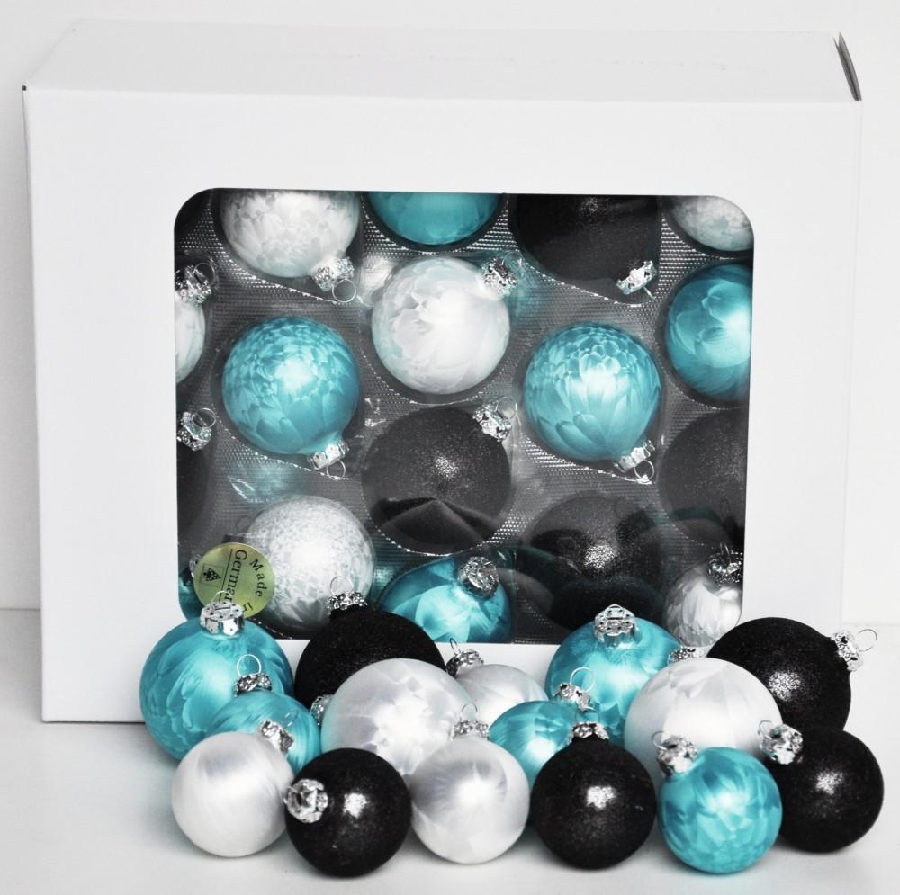 Jack 59x glas christbaumkugeln 4 5 6 7 cm teilw. eislack weiß ...